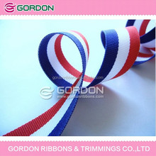 custom led stripe fabric/navy red and white stripe fabric/stripe organza fabric tape