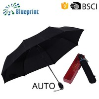 Giveaways Full Auto Three Folding Bottle Shape Cap Umbrella With Box