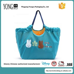 high quality promotional foldable nylon handbags, waterproof nylon shopping tote bags, promotional nylon beach tote bag