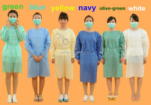 long nonwoven disposable pp gown