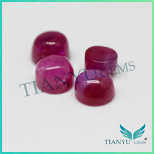 Factory price cabochon natural ruby ring stone fashion jewelry glass filled ruby
