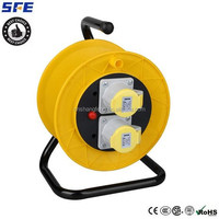 Outdoor main sites electrical power cable reel /drum reels with thermal overload protection and reset button 20M