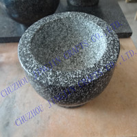 food safe kitchenware natural stone large&small black,green,white polished granite mortar and pestle stone mortar and pestle