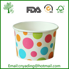 Disposable Wholesale ice cream paper cup and lid
