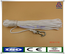 Solid braid white pp anchor rope with snap hook