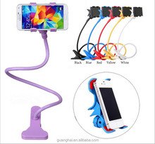 360 Rotating Lazy Mobile Phone Clip Holder Desk Bed Table Stand Mount For smart phone