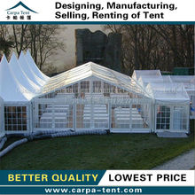 Outdoor classic type small wedding tent clear roof and side for hot sale from Guangzhou