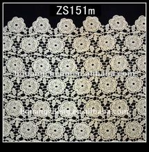2012 new hot design embroidery chemical lace fabric for garment and accesories