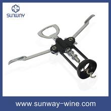 Corkscrew opener red wine wing shape bottle opener cheap from manufacturer