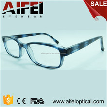 Hot sale CP injection unisex optical frame with pattern and metal spring hinge