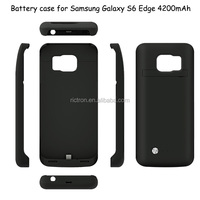 New Arrivial 4200mAh Leather Battery Case for Samsung Galaxy S6/ Edge