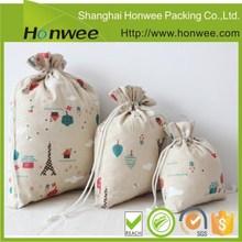 china supplier reusable cotton drawstring bag