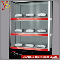 Website Selling Customized Wooden Shop Wooden Glass Display Showcase