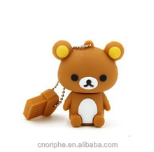 Best Selling promotional Good quality teddy bear pen drive