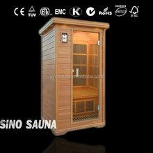 1 person home use hemlock beauty infrared mini sauna room