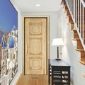 Natural antiguo de madera maciza puerta 2015 year más nuevo diseño