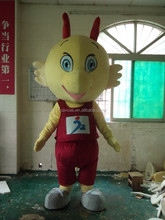 Advertising Adult Wearing Polyfoam Version Fashion Customized Dragon with Yellow Head Mascot Costume