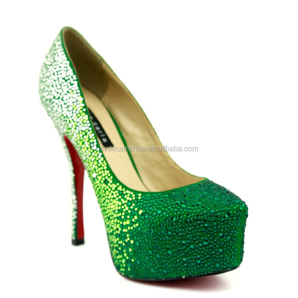 green evening shoes images