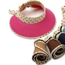 custom children kids baby Wide Brim Roll Up Foldable Beach Straw Sun Hat Face Protective Cap