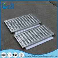 E350 outdoor stainless steel plaza plain coated drain sewer grating cover
