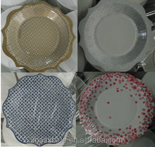 Custom Printed High Quality Disposable Paper Plates