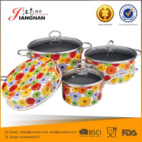 Easy-clean-Enamel-Flanging-Pot Porcelain Enamel Cookware