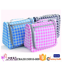 Manufacturer supply fashion waterproof travel hanging toiletry bag for women
