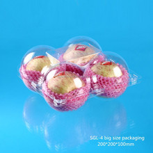 Suitable plastic fruit packaging box for four apple