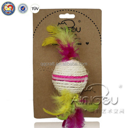 wholesale China sisal ball new sport pet cat toys cat feather toy