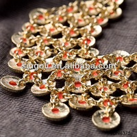 indian gorgeous drop ruby bead fashion necklace design