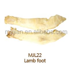 lamb foot pet snack dog treat dry pet food factory wholesale