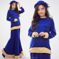 OEM service China factory custom made Wholesale newest colorful flare abaya skirt dress