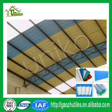 Corrugated weather board pvc roof tile garage/PVC roof shed/garden shed PVC