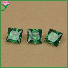 wholesale price cubic zirconia square shape emerald green man made semi precious stones
