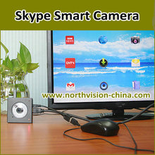 skype monitor camera with android tv box, wifi router function, ir night, 720p security video