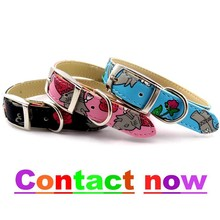 2015 Shanghai pet collar High quality pet training collar print dog collar L041015
