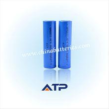 Venta al por mayor lifepo4 18650 3.2v 1100 mah/3.2v fosfato de hierro litio de la batería