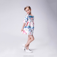 2015 3-12Y new fashion girl dresses nova baby clothes short sleeves high quality cheap child summer frocks