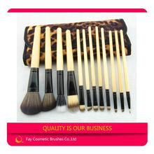 Bamboo handle japan lepord print synthetic makeup brush