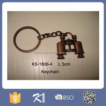 Brass mini telescope of keychain design to children