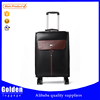 2015 popular PU leather travel luggage & carry on luggage & spinner luggage