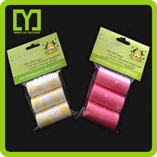 2015 new product hot quality in the exports markets biodegradable dog poop bag on roll