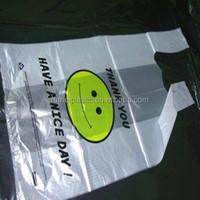 Supermarket Custom Biodegradable PE LDPE HDPE Packing T-Shirt Shopping Plastic Bag