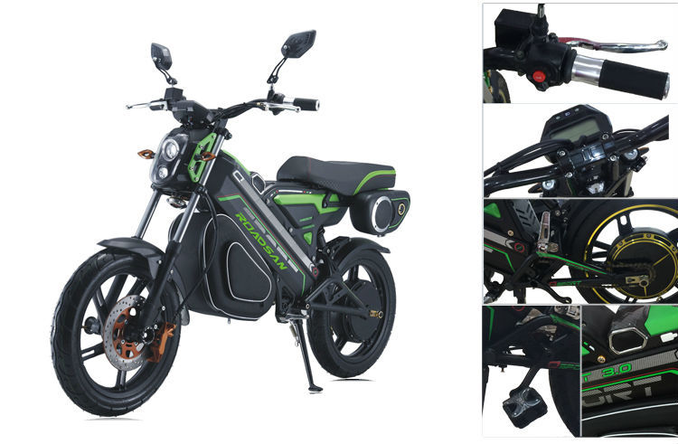 Prix bas À La Mode Conception Puissant Moteur Vert Zéro Motos Électrique Adulte Électrique Moto 1200 W Électrique e Vélo
