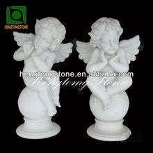 White Marble Chica estatua del ángel