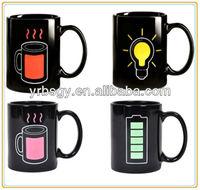 Fashional Magic Heat Sensitive Color Changing Mug 1 Pair for Lover