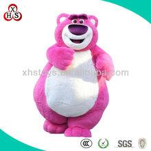 Cute soft plush bear mascot costume for adults, OEM adult bear costume