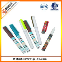 High quality recycle plastic pen with cartoon full color printing