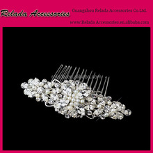 Custom Silver and Gold Plated Princess Wedding Hair accessories Side Comb