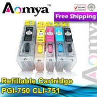 refillable ink cartridge for Canon PGI-750 CLI-751 inkjet cartridge